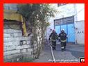 آتش سوزی مغازه آلومینیوم سازی در قلی پور رشت/آتش نشانی رشت